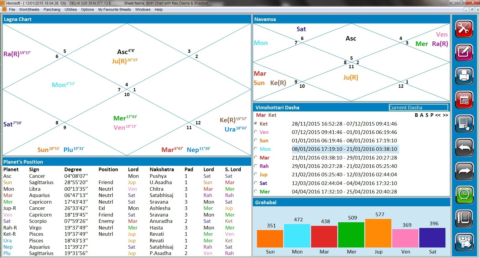Professional Edition 5 0 - Astrology Software HOROSOFT